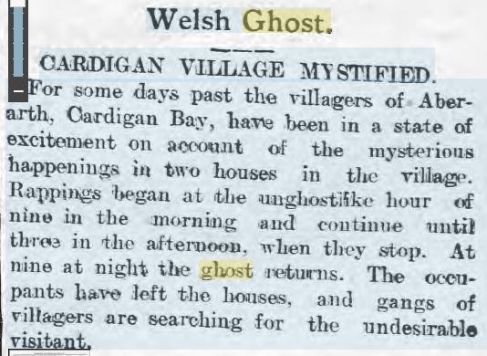 Cardigan Poltergeist 12 March 1909 Carmarthen Weekly Reporter.jpg