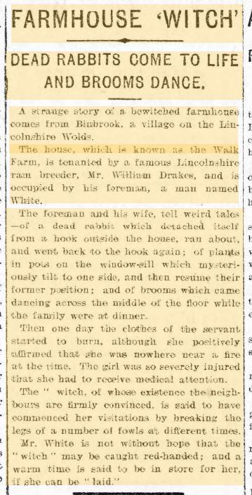 Farm House Witch Polt Case Binbrook Lincolnshire Wolds, Evening Express 20 Jan 1905.JPG