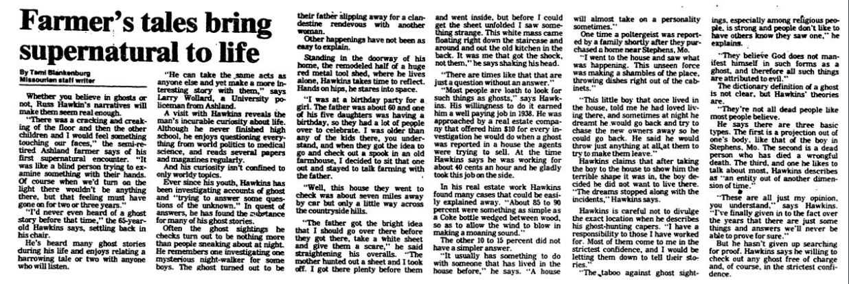 Polt and Ghosts Missouri Colmbia Missourian Newspaper 1 Jan 1984.JPG
