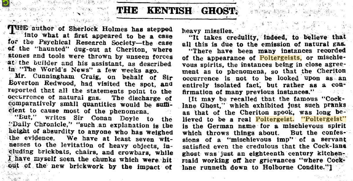 Polt Kentish Ghost The Worlds News 11 May 1918.JPG