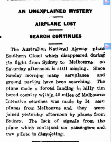 AIRPLANE LOST Northern Territory Times (Darwin NT) 24 March 1931(1).jpg
