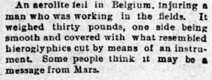 An Aerolite Fell in Belgium - The San Francisco Call (Sunday) 4-18-1897.jpg