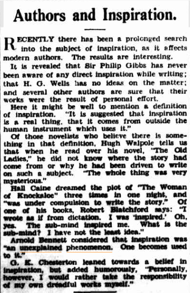 AUTHORS and Inspiration The Sydney Morning Herald NSW 26 April 1938(1).jpg