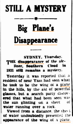 BIG PLANE's DISAPPEARANCE Mudgee Guardian NSW 28 jan 1937.jpg