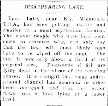 Disappearing Lake Daily Mercury (Mackay QLD) 2 nov 1925.jpg