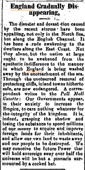 ENGLAND DISAPPEARING The Armidale Chronicle (NSW) Saturday 19 March 1898.jpg