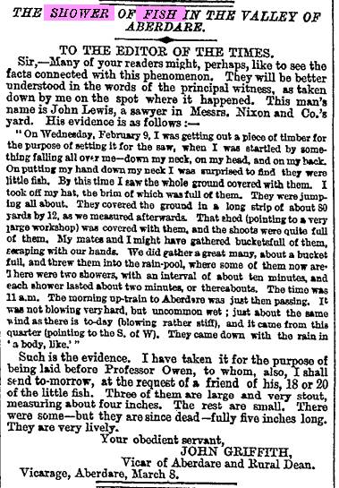 Fish Fall Aberdare Wales 9,2,1859 The Times.jpg