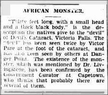 Lake Monster Victoria Falls, Daily Mercury Weds 17Jan 1934.jpeg
