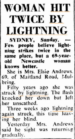 LIGHTNING  HIT TWICE The Canberra Times 22 Jan 1962.jpg