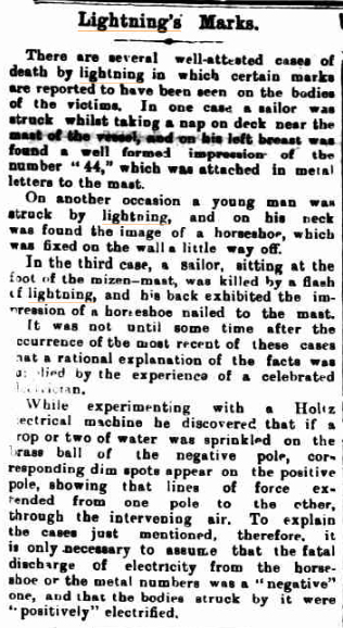 LIGHTNINGs MARKS Kilmore Free Press (Vic) 5 Aug 1909.jpg
