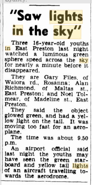 Lights in the Sky Austrialia The Argus 28 Dec 1954.JPG
