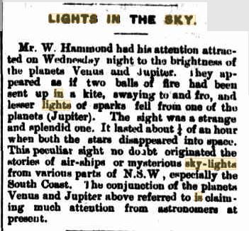 Lights in the Sky NSW Austrailia The Raleigh Sun 20 Aug 1909.JPG