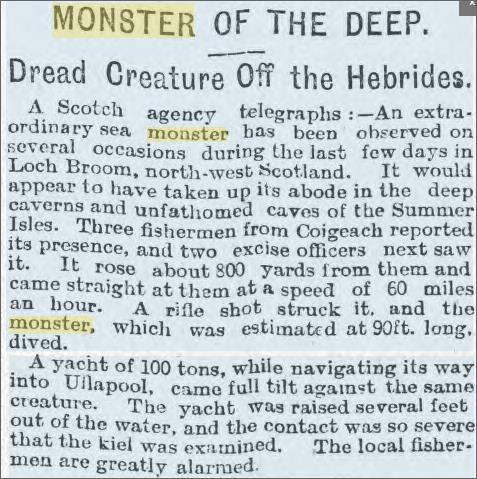 Loch Broom Monster, Cardiff Times 18 August 1906.jpeg