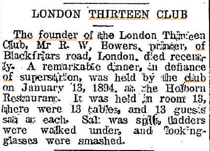 LONDON THIRTEEN CLUB Huon Times (Franklin Tas) 6 Febr 1920.jpg