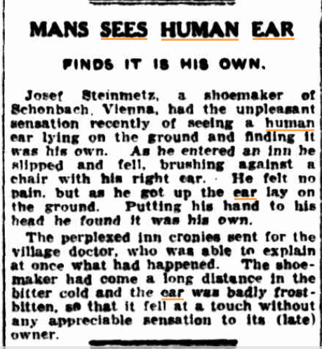 MAN SEES HUMN EAR The Mercury (Hobart Tas) 18 April 1933.jpg