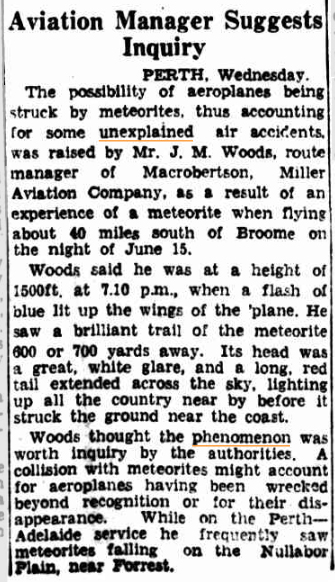 METEORITES and Aircrashes The Courier Mail (Brisbane QLD) 25 June 1936(1).jpg