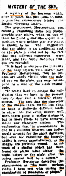 MYSTERY OF THE SKY 1The Northern Miner (CHarters Towers QLD) 10 Aug 1927kopie.jpg