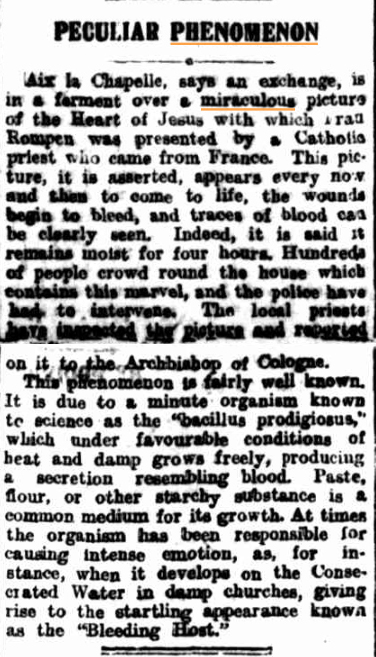 PECULIAR PHENOMENONExaminer (Launceston Tas) 21 aug 1920.jpg