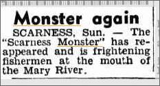 Scarness Monster Queensland Daily Mercury 27 Oct 1952.jpeg