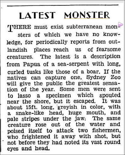 Sea Monster Papua, The Worlds News 4 Match 1936.jpeg