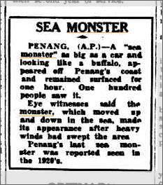 Sea Monster Penang, Cairns Post 20 May 1950.jpeg