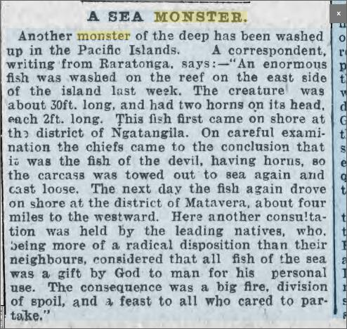 Sea Monster Raratonga Pacific Islands 1 July 1899.jpeg