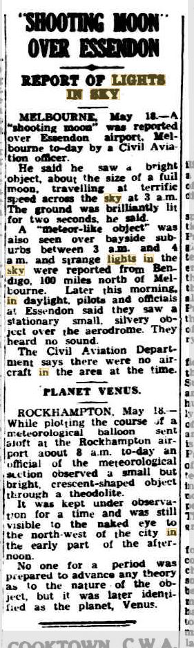 Shooting moon Lights inthe sky Melbourne Cairns Post 20 May 1953.JPG