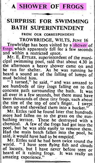Shower Of Frogs Trowbridge, Wilts 16 June 1939 The Times.jpg