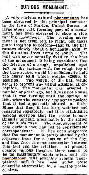 STONE BALL turning Newcastle Morning Herald and Miners Advocate NSW 28 Dec 1905(1).jpg