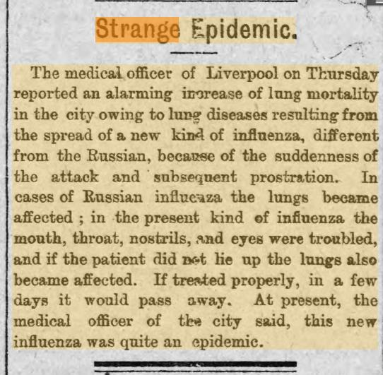 Strange Epidemic Eveniing Express 1st December 1893.jpg