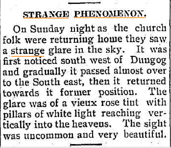 STRANGE LIGHT UFO Dungong Chronicle - Durham and Gloucester Advertiser NSW 10 july 1928.jpg