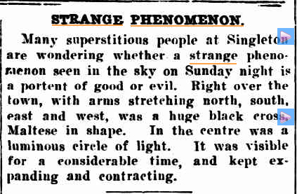 STRANGE PHENOMENON Lights Daily Examiner (Grafton NSW) 31 March 1933.jpg