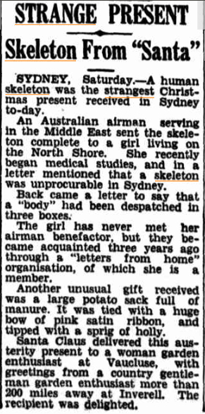STRANGE PRESENTS Daily Mercury (Mackay Qld) 27 Dec 1943.jpg