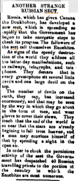STRANGE RUSSIAN SECT The Manaro Mercury and Cooma and Bomabala Advertiser 17 Nov 1902.jpg