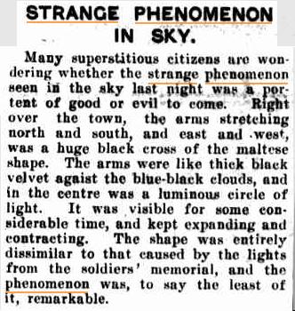 STRANGE SKY Singleton Argus NSW 27 mrt 1933.jpg