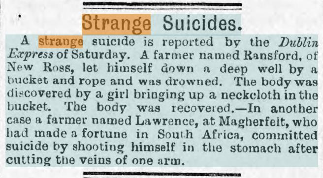 Strange Suicides Evening Express 8th February 1892.jpg