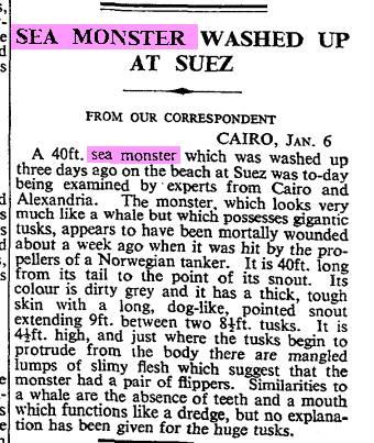Suez Sea Monster Jan 1950 The Times.jpg