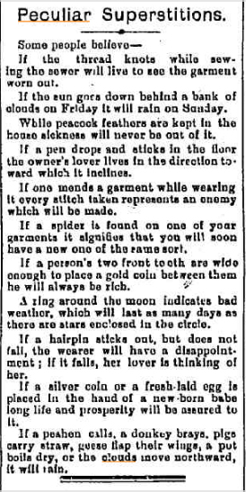 SUPERSTTIONS Bairnsdale Advertiser and Tambo and Omeo Chronicle (Vic) 14 aug 1900(1).jpg