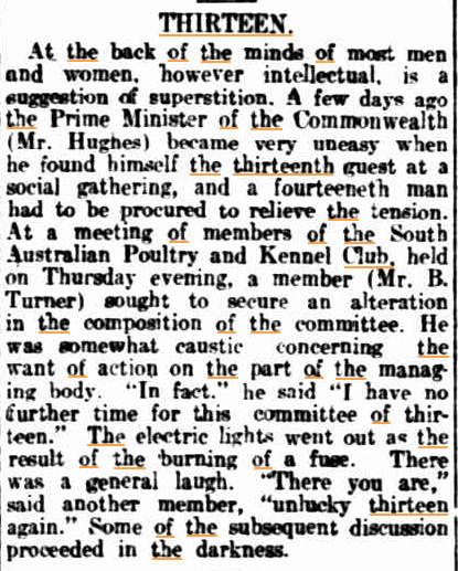 THIRTEEN The Register (Adelaide SA) 23 Febr 1917.jpg