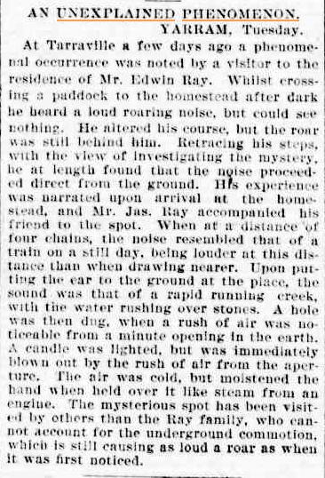 UNEXPLAINED phenomenonThe Age (Melbourne Vic) 31 July 1901(1).jpg