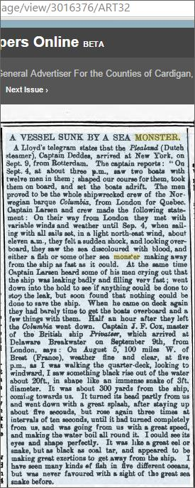 Vessel Sunk By Sea Monster Cardigan Observer and General Advertiser 4 Oct 1879.jpeg