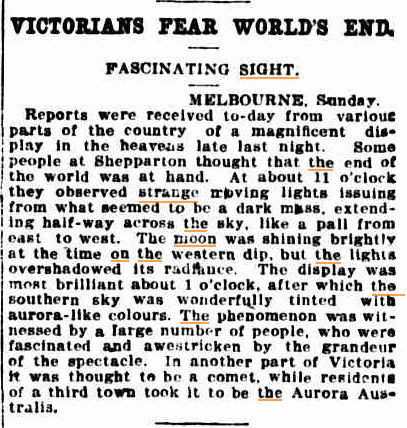 VICTORIANS fear worlds end The Sydney Morning Herald NSW 27 sept 1909(1).jpg