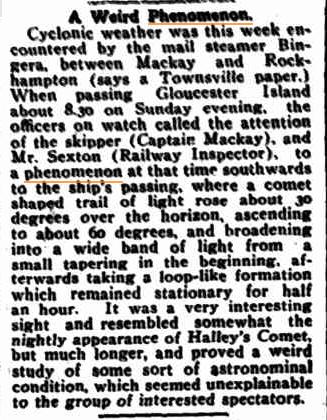 Weird Phenomenon The Northern Herald (Cairns QLD) 16 Nov 1917.jpg