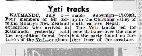 Yeti Chagwang Valley Nepal Daily Mecury 6 July 1954.jpeg