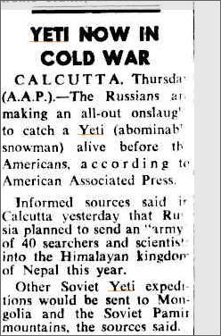 Yeti Cold War, The Canberra Times 30 Jan 1959.jpeg