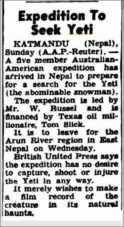Yeti Expedition, The Canberra Times 10 Feb 1958.jpeg