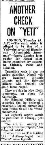 Yeti Scalp The Canberra Times 30 December 1960.jpeg