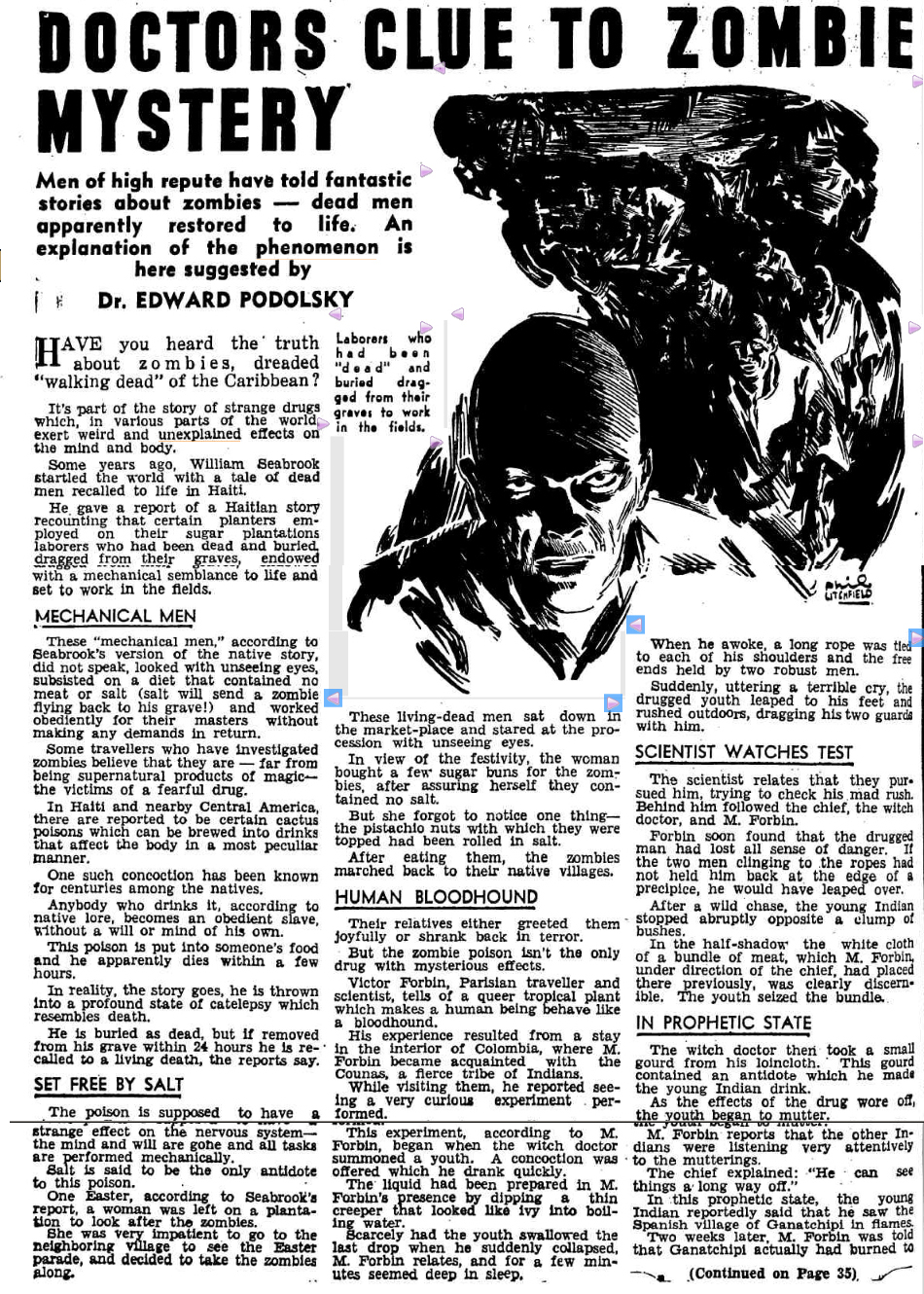 ZOMBIE mystery The Worlds News (Sydney NSW) 15 Nov 1941TOTAAL.jpg