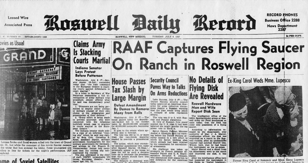 RoswellDailyRecordJuly8_1947